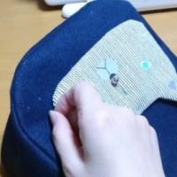 手縫い半分