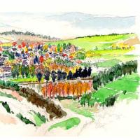 マーストリヒットへの道 ドイツ西部 世界わがスケッチの旅