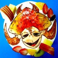 お食い初めの御祝いに☆元気な鯛ケーキできました♪