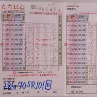 今日のゴルフ挑戦記(72)/新千葉CC「たちばな」アウト→イン(ベント)