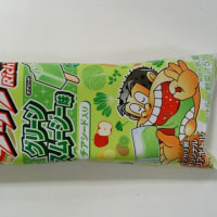 The other day, I could eat popsicle named Garigari-kun that have taste of green smoothie.