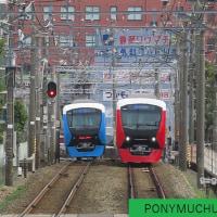 静岡鉄道A3001と3002のすれ違いを狙ったが・・(2017年3月25日)