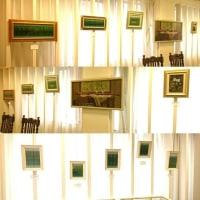 田中恵子絵画展「グリーントルマリンの森 変奏曲」の展示が完了しました !
