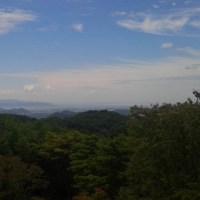 本日摩耶山天上寺上空地震雲。
