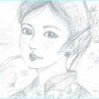 美人画「簾(すだれ)」