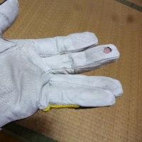 サイクリング手袋修理。
