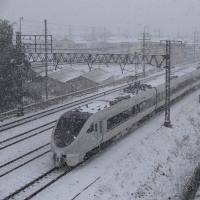 雪のJR京都線を撮影~名神クロスにて_17/01/15