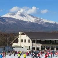 孫とスキー場
