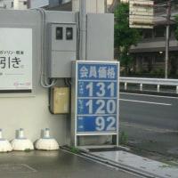 ガソリン価格が下がった