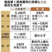 福島廃炉・賠償費、20兆円に 想定の2倍 経産省推計 国民負担が増大、東電へ融資拡大