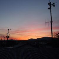 綺麗な朝焼けの空