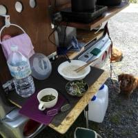 昼はキャンパーで冷や麦
