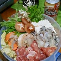 今年初の牡蠣は、鍋で( ´∀`)