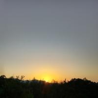 今日の朝焼けΣb( `・ω・´)グッ
