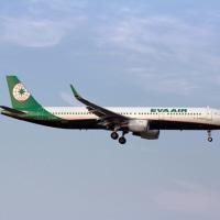 エバー航空 A321新塗装 FUK
