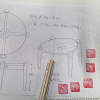 杢材の円卓の制作 その1
