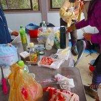 21 岩国弥山(435m:山口県岩国市)登山(続き)  山頂で鍋料理を