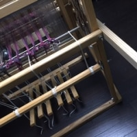 織り機を ながぁ〜くしてみたら、こんなだった。
