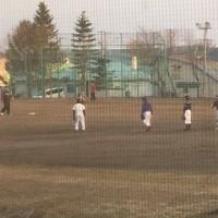 今期初,待望のグラウンド使用 野球少年団