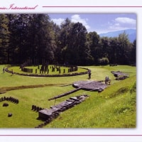 Radio Romania Int. ベリカード  記念碑と、要塞跡の写真