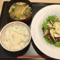 香味野菜となすの生姜醤油ハンバーグ