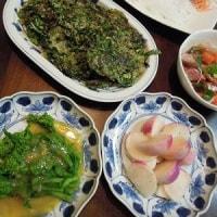 2/24(金)の収穫野菜、菜花、あやめ雪、美味しいですよ~
