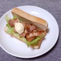つまみ 焼豚サンド