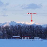 降雪直後の山