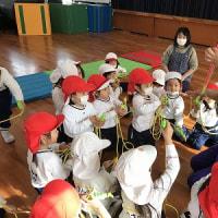 年少組☆体操教室&オニのお面制作