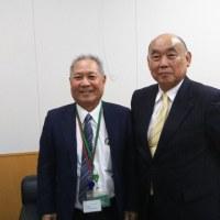 国頭村宮城村長と鶴保大臣を訪問