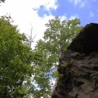 樹海峠、休止中の根室本線、金山湖、占冠村の赤岩青厳峡:6月16日2017