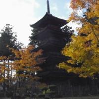 五重の塔の妙宣寺へ