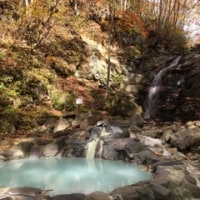 山の中の露天風呂