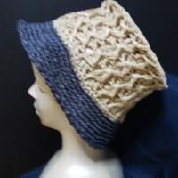 紙の糸で夏物の帽子を編みましたよ~~!