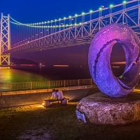 ライトアップ明石大橋