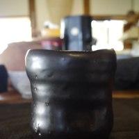 沖縄ん!(2)黒の筒茶碗