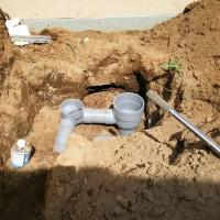 本下水の工事です