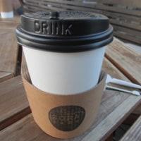絶景のカフェでコーヒーを