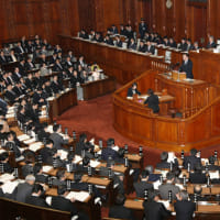 【内閣不信任決議案】 否決 賛成124、反対345
