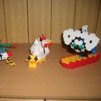 鶏、雛、帆船