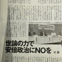「国民安保法制懇が緊急声明」(『週刊金曜日』より)
