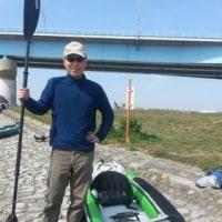 カヌーで多摩川を下りました