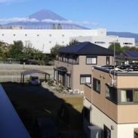 今朝の、すばらしい富士山