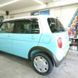 SUZUKIより新車「ラパン」が到着!早速コーティング施工に着手!