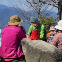 ㉒ 火山~丸山~大茶臼山縦走登山 : 昼食②