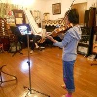 娘のヴァイオリンレッスン