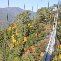 白水の滝 吊り橋