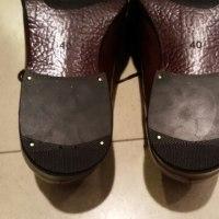 革靴のかかと修理は何時