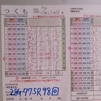 今日のゴルフ挑戦記(79)/新千葉CC「つくも」アウト→イン(ベント)