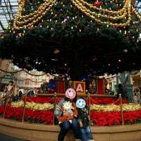 クリスマスのランドで記念写真